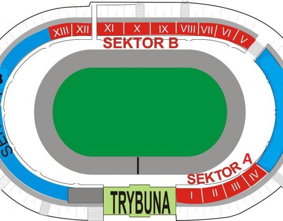 Polonia Bydgoszcz plan stadionu
